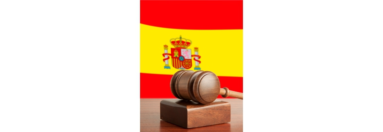Gavel  and Flag of Spain