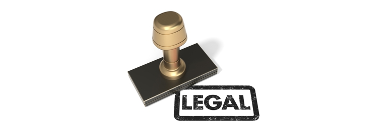Rubber stamp LEGAL