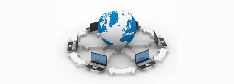 Global network the Internet. Isolated 3D image
